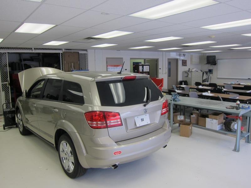 car inside the automotive building