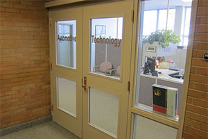 door to the main office