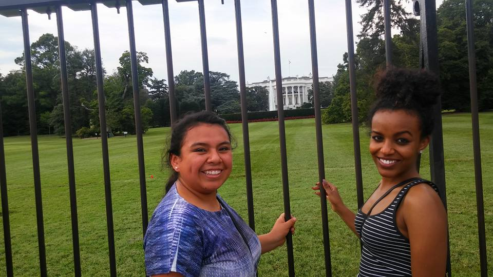 Former NAHJ President Paula Ninataype and former NABJ Vice President Briana Whatcott attended the organizations' combined national conference in Washington, D.C., in 2016.