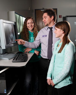 What colleges or universities offer radiology as a major?