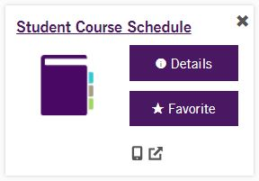 Student Course Schedule