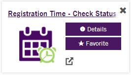 Registration Time - Check Status