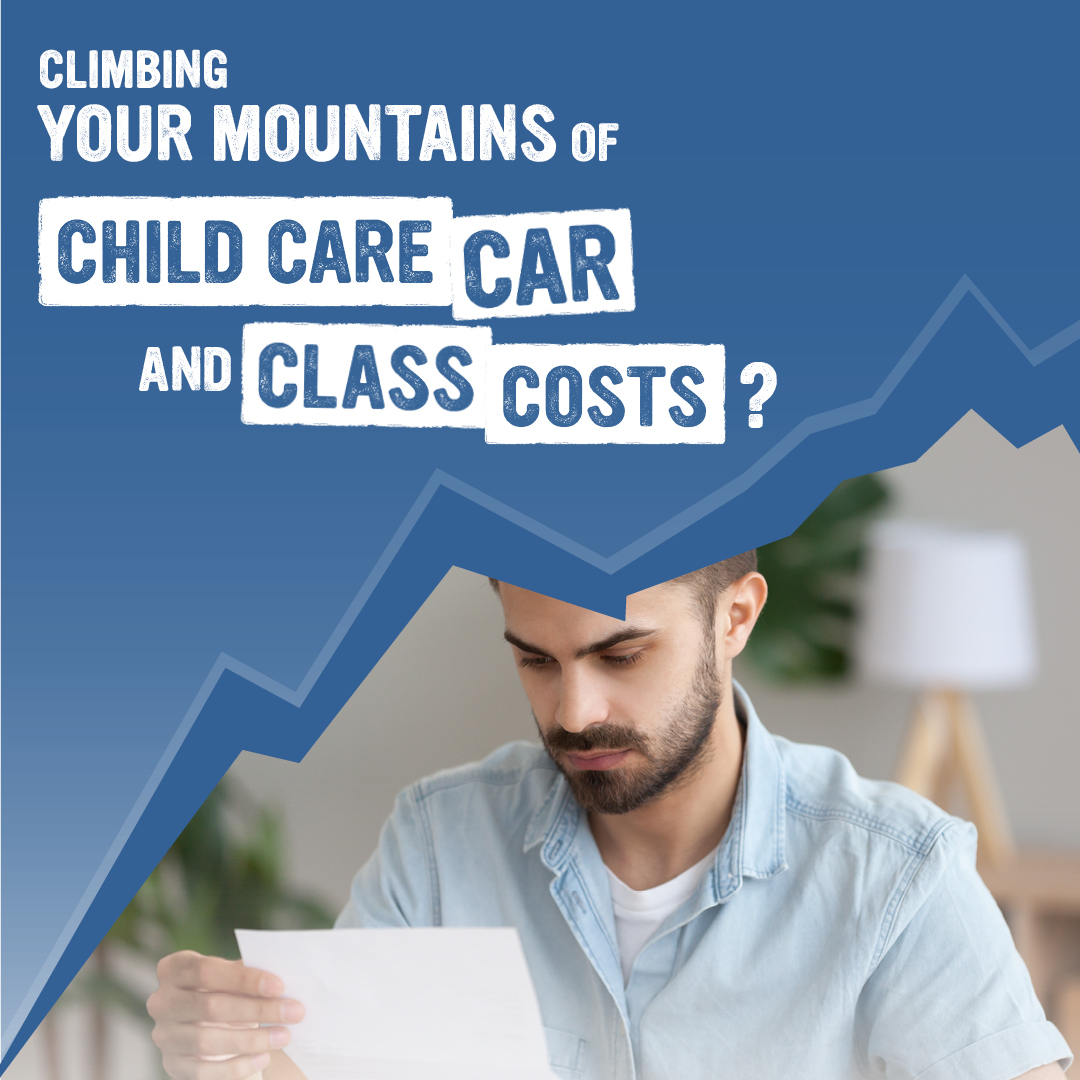 Child care, car and class costs
