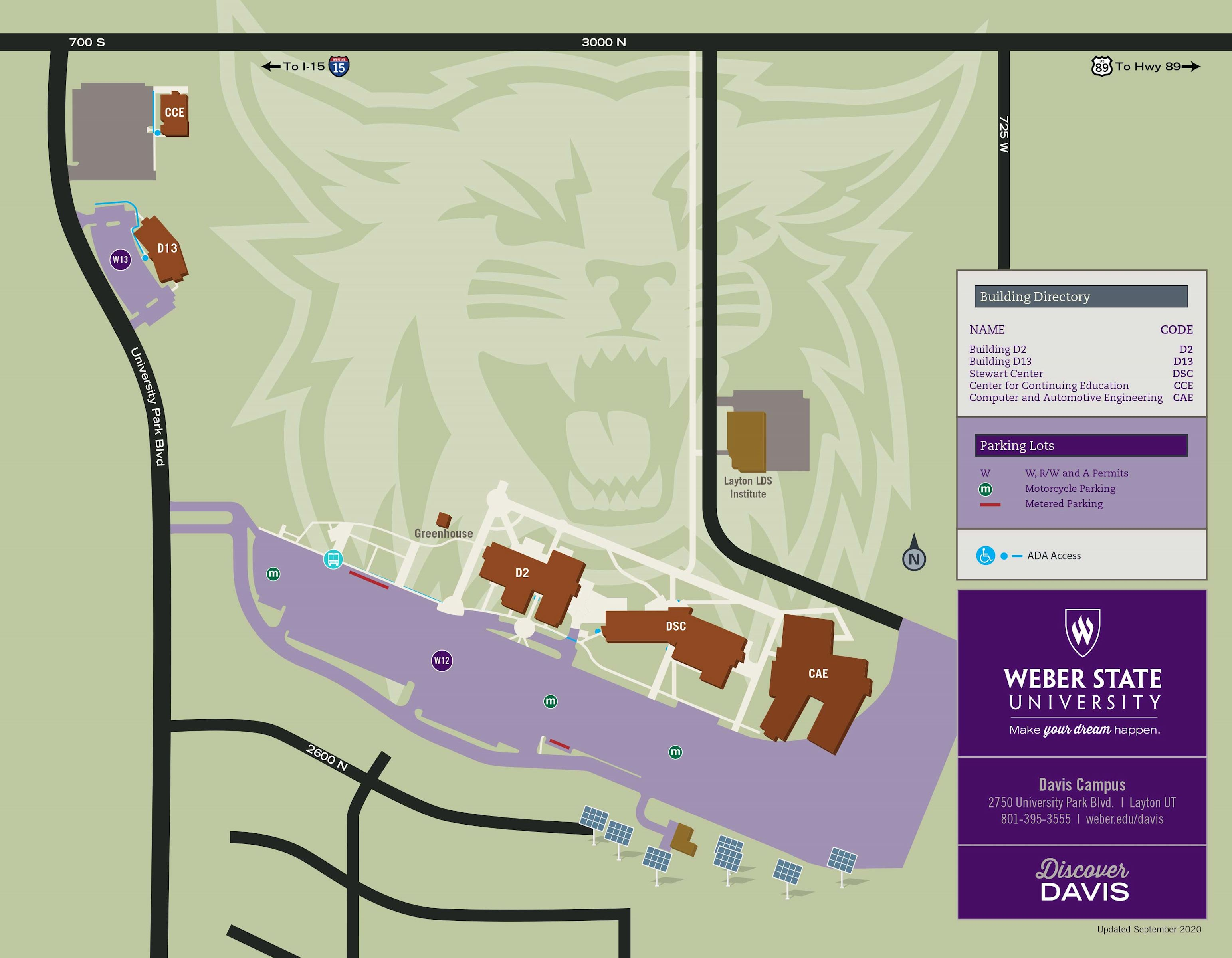 map of WSU Davis capmus