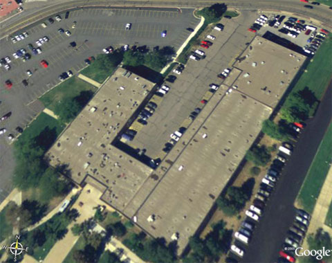 bird eye view of the automotive building