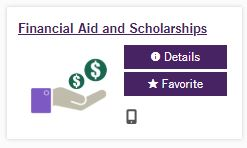 financial aid and scholarships icon