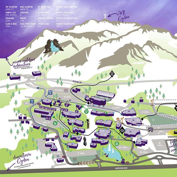 Ogden Campus Map