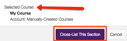 the course you selected should be listed in the Selected Course area