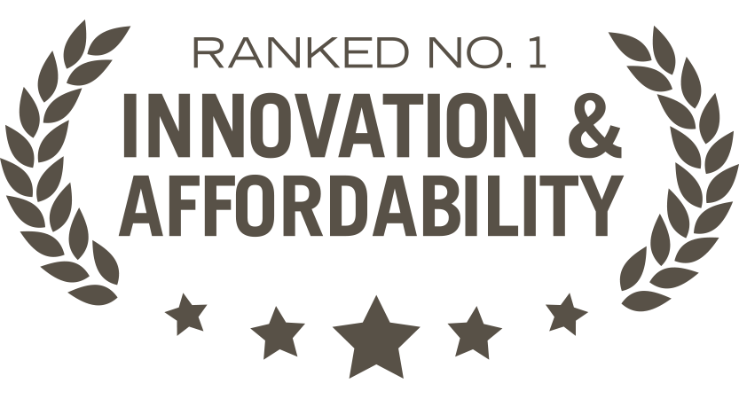 Ranked Number 1 for Innovation and Affordability