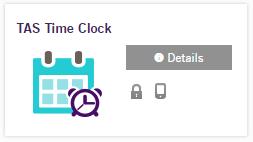 TAS time clock logo