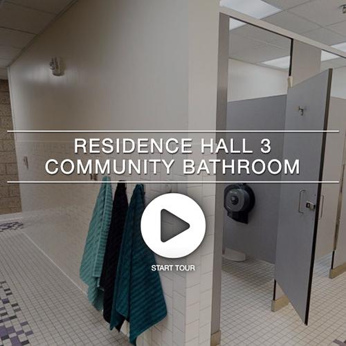 Residence Hall 3 Community Bathroom