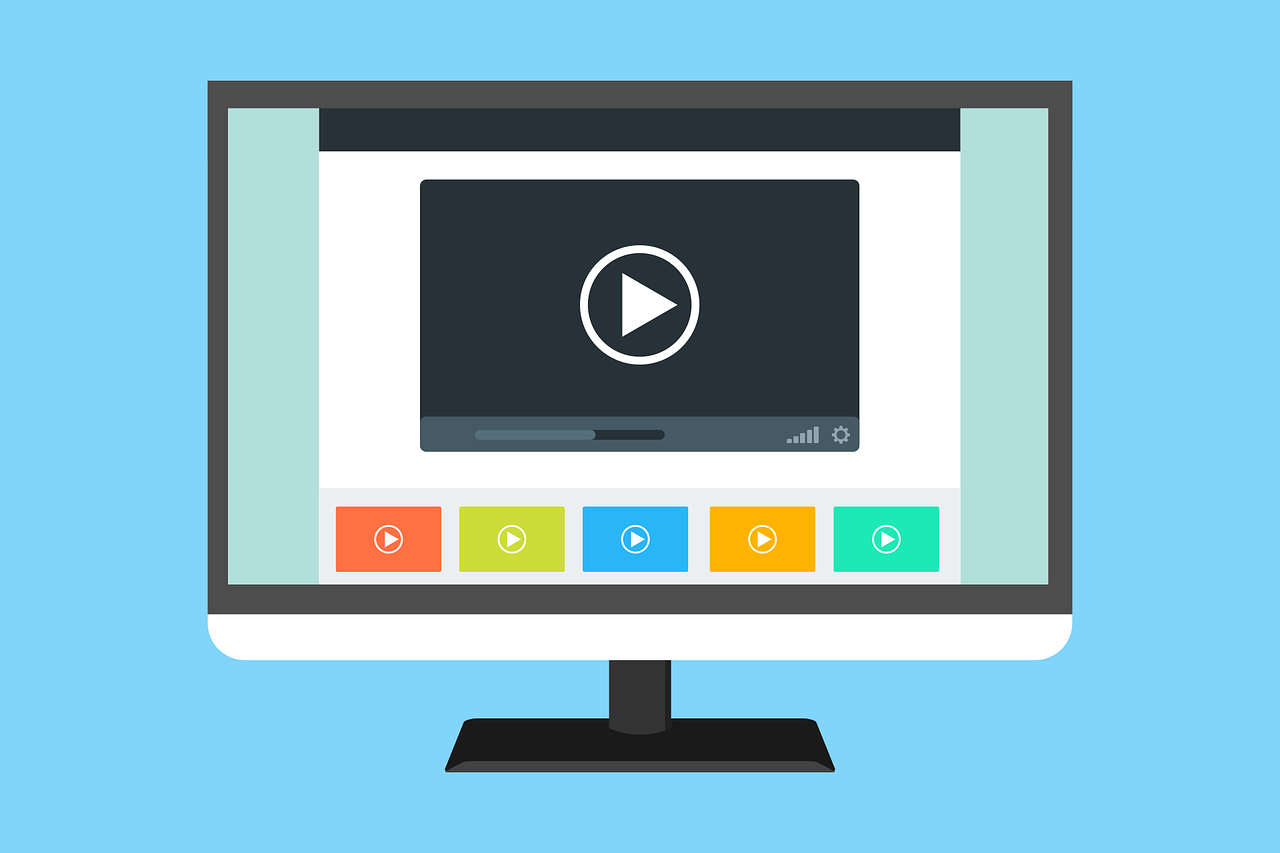 a video player on a web page