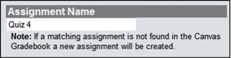 Check to make sure the assignment names are the same in Chi and Canvas