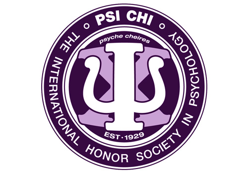 The emblem for the Psi Chi National Honor Society for Psychology.