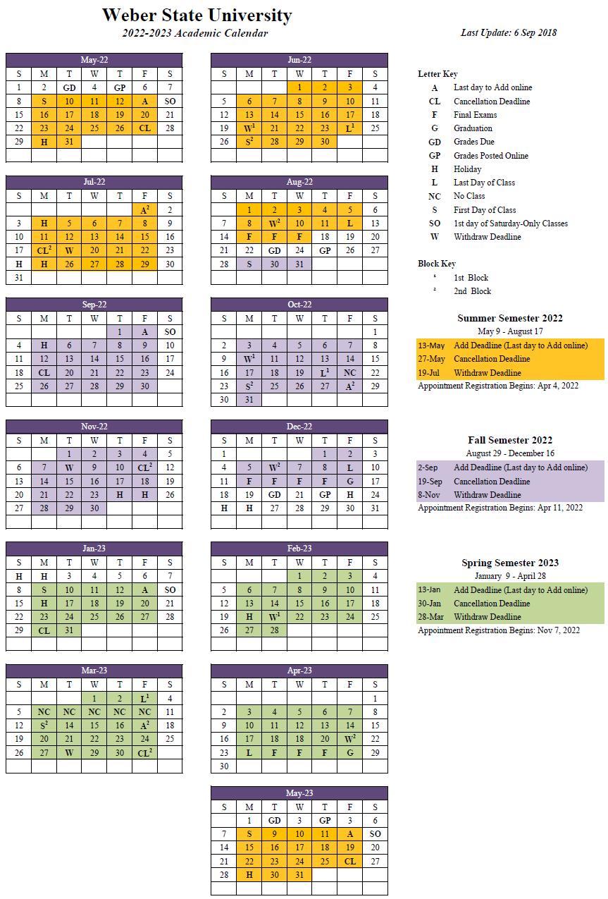2022-23 Academic Calendar