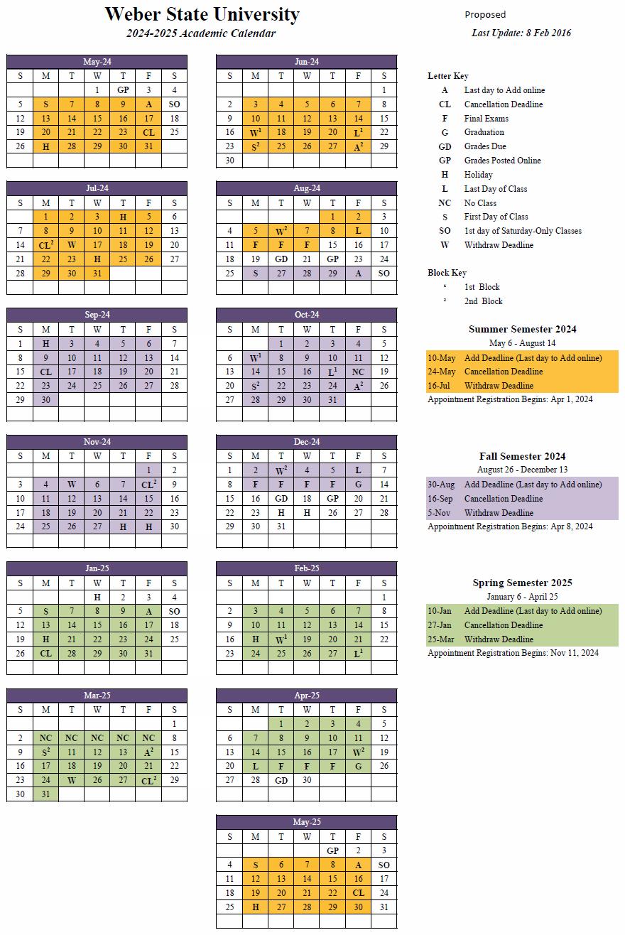 2024-25 Academic Calendar