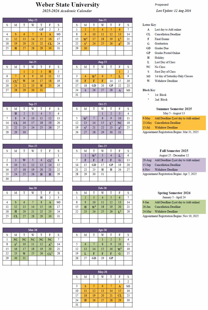 2025-26 Academic Calendar