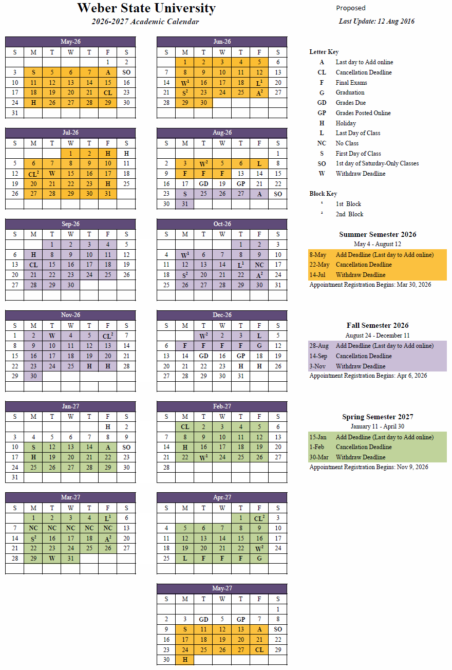 2026-27 Academic Calendar