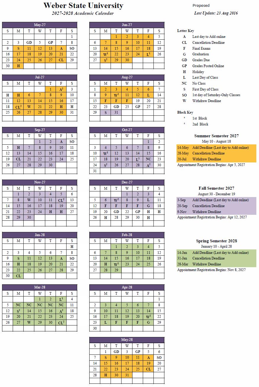 2027-28 Academic Calendar