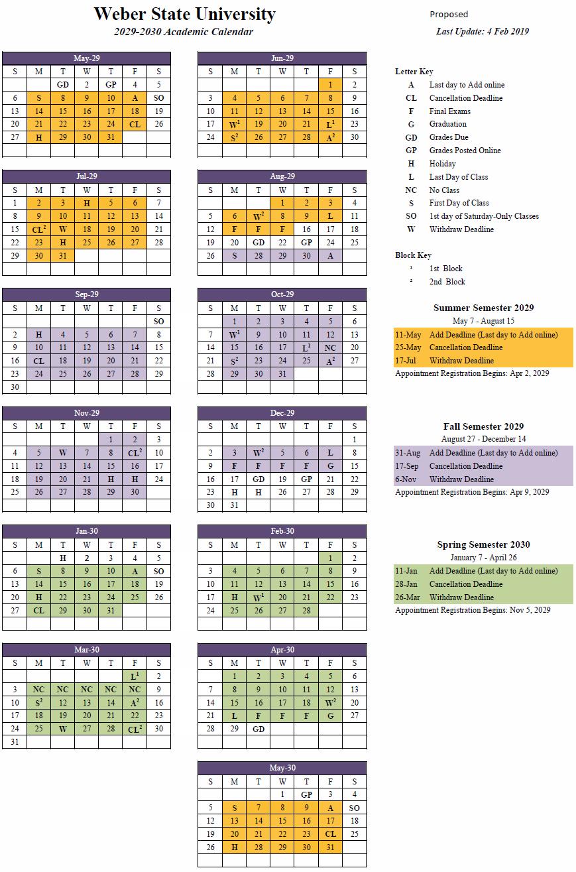 2029-30 Academic Calendar