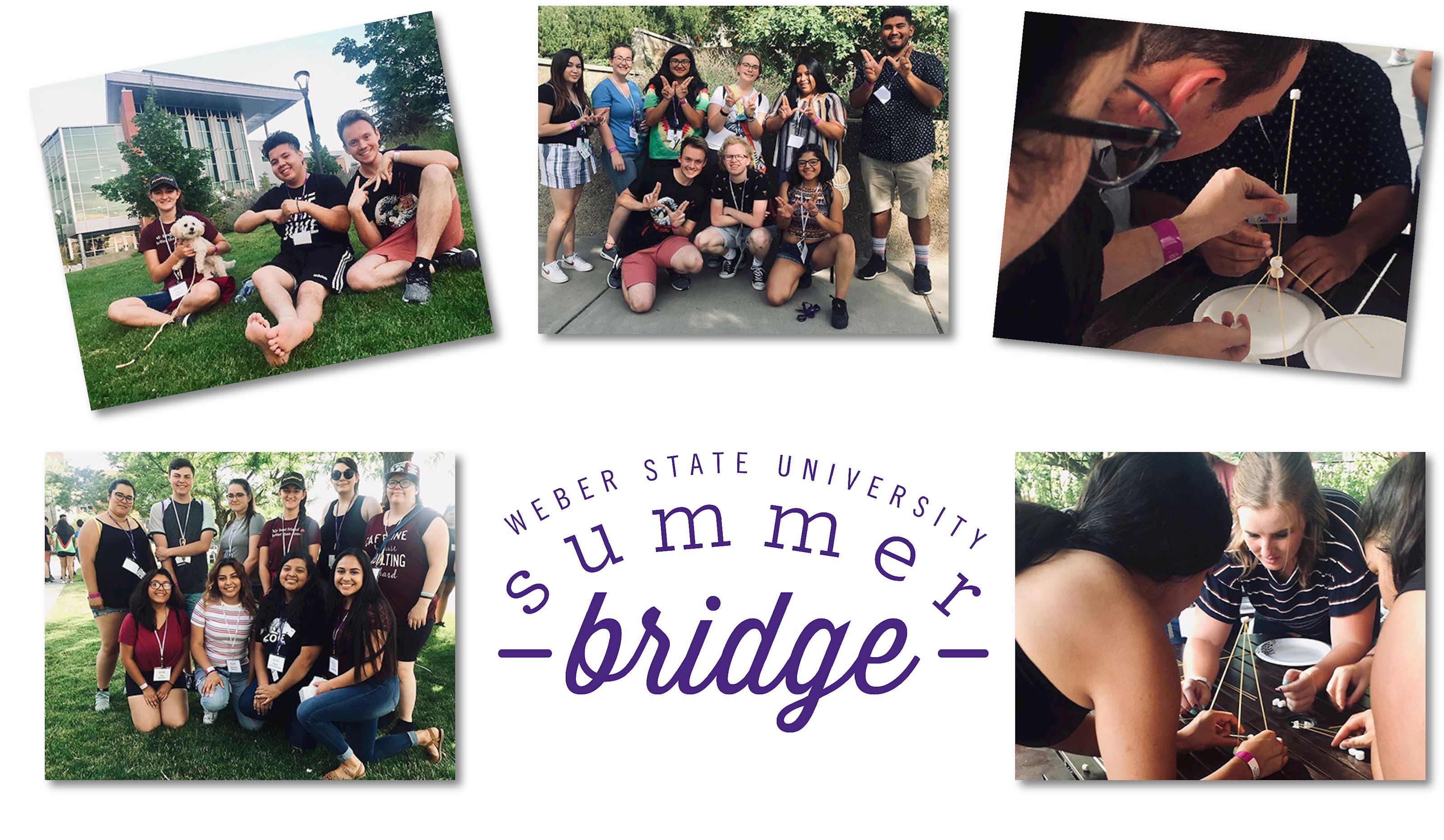 Images of those who attended the Summer Bridge program.